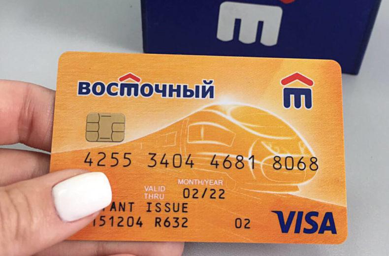"""Карта банка """"Восточный"""""""