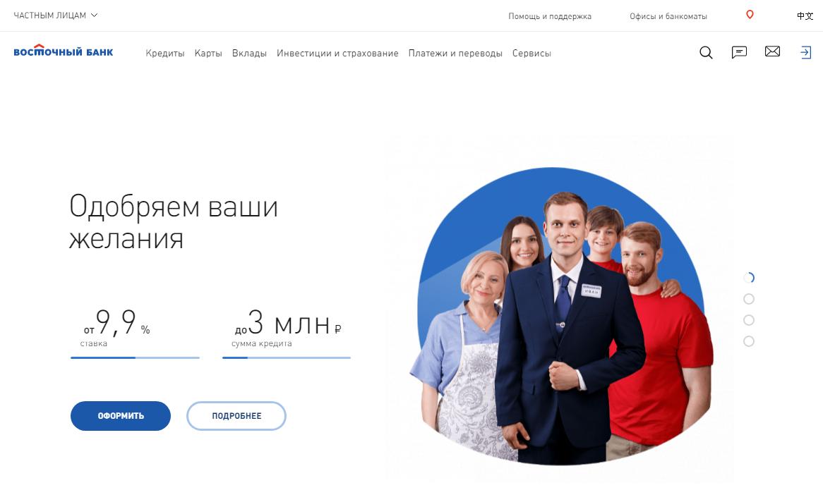Сайт Восточный Банк