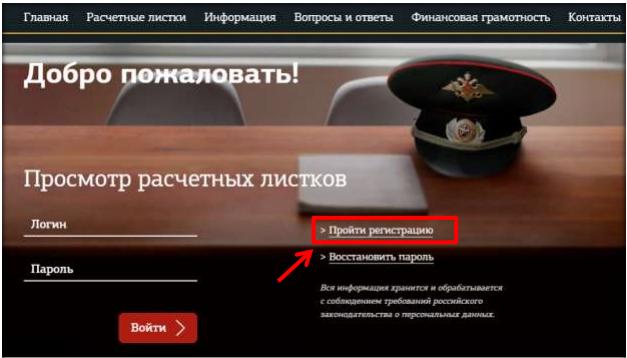 Регистрация Личный кабинет военнослужащего